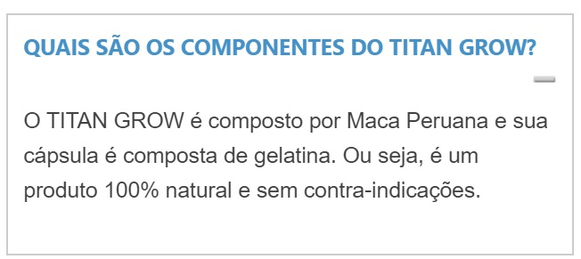 Titan Grow composicao